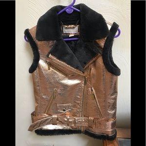 Michael Kors metallic vest Sz S nwot